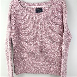 ABERCROMBIE FITCH Pink Knit Sweater Medium Top